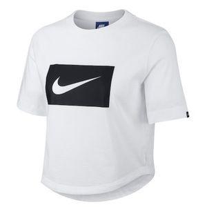 Nike Logo Crop Tee